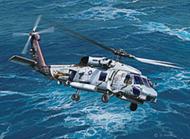 Revell-Germany SH-60 Navy Helicopter Plastic Model Helicopter Kit 1/100 Scale #04955