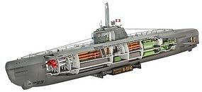 U-Boat Type XXI with Interior Plastic Model Military Ship Kit 1/144 Scale #05078