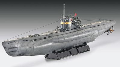 Revell of Germany German U-Boat Type VIIC/41 Atlantic Version -- Plastic Model Military Ship -- 1/144 Scale -- #05100