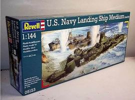 Revell-Germany US Navy Landing Ship Medium (LSM) Plastic Model Military Ship Kit 1/144 Scale #05123
