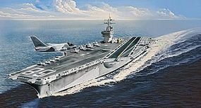 Revell-Germany USS Nimitz CVN-68 (Early) Plastic Model Military Ship Kit 1/720 Scale #05130