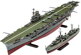 Revell-Germany HMS Ark Royal/Tribal Class Destroyer Plastic Model Military Ship Kit 1/720 Scale #05149