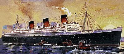 Revell of Germany Queen Mary -- Plastic Model Commercial Ship Kit -- 1/570 Scale -- #05203