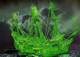 Revell-Germany Pirate Ghost Ship with Glow Paint Plastic Model Sailing Ship Kit 1/72 Scale #05433