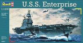 Revell-Germany USS Enterprise Aircraft Carrier Plastic Model Military Ship Kit 1/1200 Scale #05801