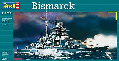 Revell-Germany Bismarck Warship Plastic Model Military Ship Kit 1/1200 Scale #05802