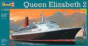 Revell-Germany Queen Elizabeth II Plastic Model Commercial Ship Kit 1/1200 Scale #05806