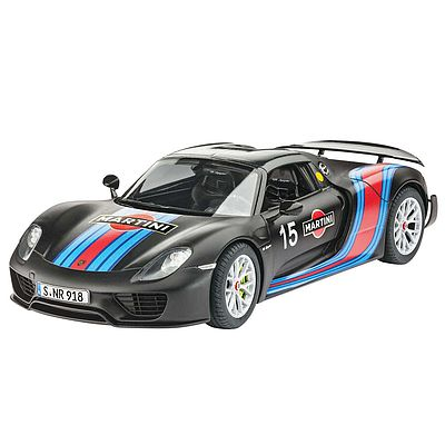 Revell of Germany Porsche 918 Spyder Weissach Sport Version -- Plastic Model Car Kit -- 1/24 Scale -- #07027