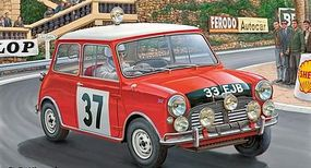 Revell-Germany Mini Cooper Rally Winner Monte Carlo 1964 Plastic Model Car Kit 1/24 Scale #07064