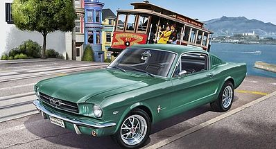 Revell-Germany 1965 Ford Mustang 2+2 Fastback Plastic Model Car Kit 1/25 Scale #07065