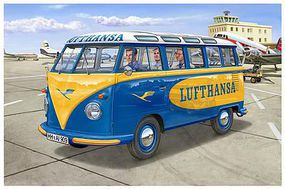 Revell-Germany VW T1 Samba Bus Lufthansa 1/24 Scale Plastic Model Vehicle Kit #07436
