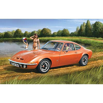 Revell of Germany Opel GT -- Plastic Model Car Kit -- 1/32 Scale -- #07680