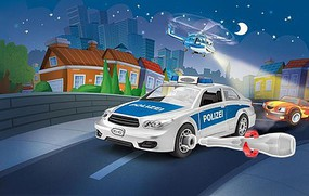 Revell-Germany Revell Jr Police Car Snap Tite Plastic Model Vehicle 1/20 Scale #1002