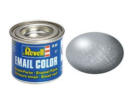 Revell-Germany 14ml. Enamel Steel Metallic Tinlets Hobby and Model Enamel Paint #32191