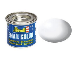 Revell-Germany 14ml. Enamel White Silk Tinlets Hobby and Model Enamel Paint #32301