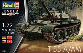 Revell-Germany T55A Main Battle Tank Plastic Model Military Vehicle Kit 1/72 Scale #3304