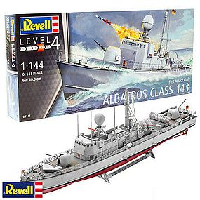 Revell-Germany German Albatross Fast Attack Craft Ship Plastic Model Ship Kit 1/144 Scale #5148
