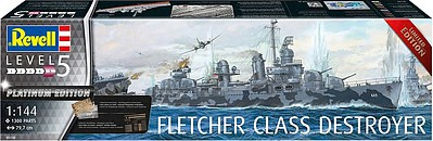 Revell of Germany 1/144 Fletcher Class Destroyer Platinum