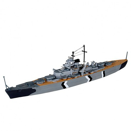 Revell-Germany 1/1200 German Bismarck Battleship w/paint & glue