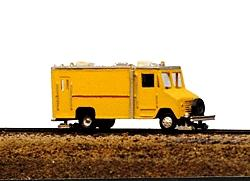 Railway-Express MOW Vehicles Box Van High Rail Inspection Vehicle Model Railroad Vehicle N Scale #2031