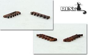 Rexx Bf109F2 Exhaust Nozzles for ZVE Plastic Model Aircraft Accessory 1/48 Scale #48001