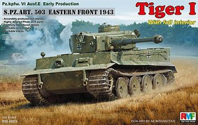 Rye 1/35 Tiger I PzKpfw VI Ausf E Early Production sPzAbt 503 Tank Eastern Front 1943 w/Full Interior