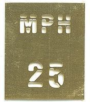 S-and-S Stencil Brass Road 25mph - N-Scale