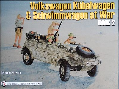 Schiffer Books VW at War Kubelwagen & Schwimmwagen Book 2 -- Authentic Scale Tank Vehicle Book -- #4016