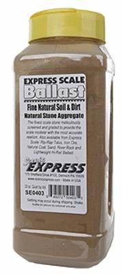 Scenic Express Fine Natural Soil & Dirt (1 Quart) -- Model Railroad Ground Cover -- #se0403