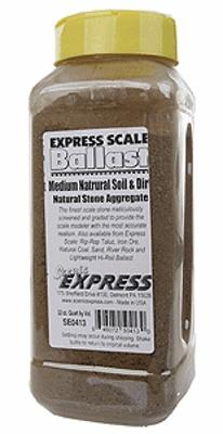 Scenic Express Medium Natural Soil & Dirt (1 Quart) -- Model Railroad Ground Cover -- #se0413