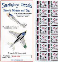 Starfighter A6E/KA60 Tram Intruder VA35 Sq. Black Panthers 1980-81 Markings for TSM 1/350 #350108