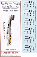 Starfighter EA6B Prowler VAMQ2 Play Boys for TAM EA6B Plastic Model Aircraft Decal 1/350 #350117