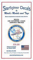 Starfighter USS Enterprise CVN65 1982-01 for TAM Plastic Model Ship Decal 1/350 Scale #35053