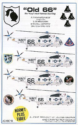 Starfighter Decals 1/48 SH3 USN Sea King Old 66 for RVL & HSG