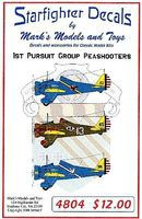 Starfighter P26 Peashooters 1st Pursuit Group Pt.2 Plastic Model Aircraft Decal 1/48 Scale #4804