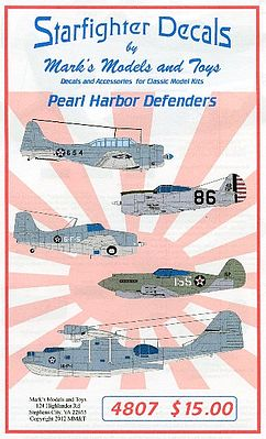 Starfighter Decals Pearl Harbor Defenders -- Plastic Model Aircraft Decal -- 1/48 Scale -- #4807
