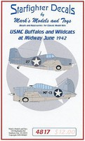 Starfighter 1/48 USMC Buffalos & Wildcats at Midway June 1942 for TAM & SHY