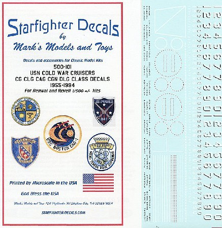 Starfighter 1/500 USN Cold War Cruisers CG, CLG, CAG, CGN, DLG Class 1955-1994 for RMX