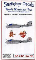 Starfighter Desert Storm Intruders Plastic Model Aircraft Decal 1/72 Scale #72132