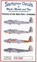Starfighter 1/72 Fortresses on the Sky Part 1 B17B for ACY