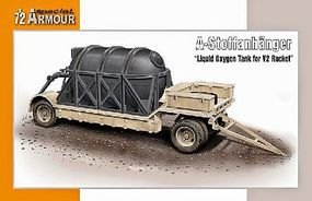 Special Liquid Oxygen Tank on Flatbead Trailer Plastic Model Military Vehicle Kit 1/72 #172015