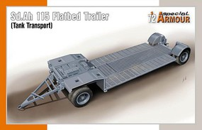 Special 1/72 SdAh 115 Tank Transport Flatbed Trailer