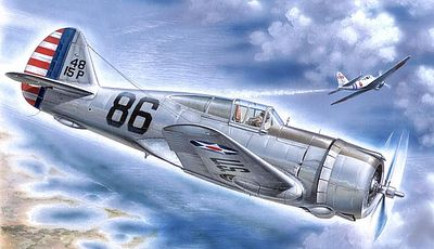 Special P36A Hawk Pearl Harbor Defender Fighter (Re-Issue) Plastic Model Airplane Kit 1/32 #32003