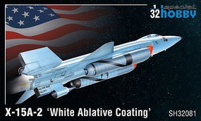Special 1/32 X15A2 White Ablative Coating High Speed Aircraft