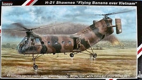 Special H21 Shawnee Flying Banana US Army Helicopter Plastic Model Airplane Kit 1/48 Scale #48062