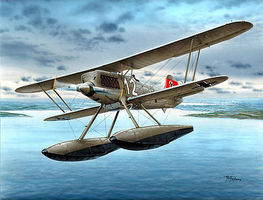 Special He51B2 (W) w/Floats German Biplane Fighter Plastic Model Airplane Kit 1/48 Scale #48089