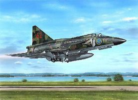 SAAB AJ37 Viggen Attack Version Aircraft Plastic Model Airplane Kit 1/48 Scale #48148