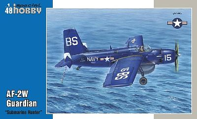 Special AF2W Guardian Submarine Hunter Bomber (New Tool) Plastic Model Airplane Kit 1/48 #48158