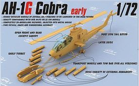 Special AH1G Early Cobra Helicopter (New Tool) Plastic Model Airplane Kit 1/72 Scale #72076