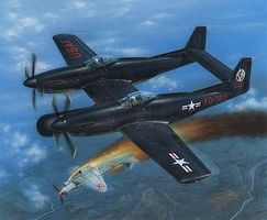 Special F82G Twin Mustang Long Range Fighter Korean War Plastic Model Airplane Kit 1/72 #72200